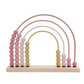 Little Dutch Rainbow abacus skaitāmie kauliņi rozā