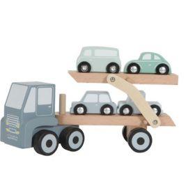 Little Dutch Wooden truck koka kravas auto ar piekabi