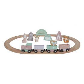 Rozā vilcienu komplekts ar sliedēm Train set Adventure pink