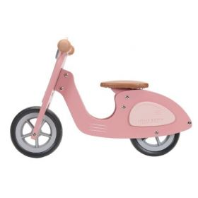 Little Dutch Balance bike Scooter pink koka līdzsvara skrejritenis rozā