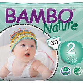 Bambo Nature Ekoloģiskās autiņbiksītes 2 Mini (3-6 kg), 30 gab.