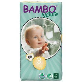 Bambo Nature Ekoloģiskās autiņbiksītes 3 Midi dubultpaka (5-9 kg), 66 gab.