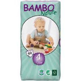 Bambo Nature Ekoloģiskās autiņbiksītes 4 Maxi dubultpaka  (7-18 kg), 60 gab.