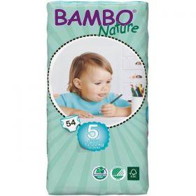 Bambo Nature Ekoloģiskās autiņbiksītes 5 Junior dubultpaka  (12-22 kg), 54 gab.