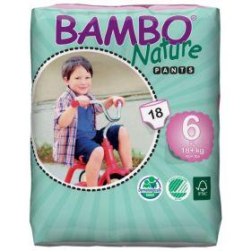 Bambo Nature Ekoloģiskās autiņbiksītes 6 Junior biksītes bez klipšiem!  (18+ kg), 18 gab.