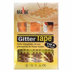A izmēra kinezioloģiskais režģveida teips Nasara cross tape- miesas krāsā