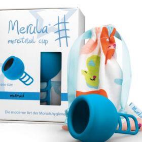 Menstruālā piltuve Merula Mermaid zila